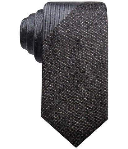 Alfani Mens Panel Necktie (Black)