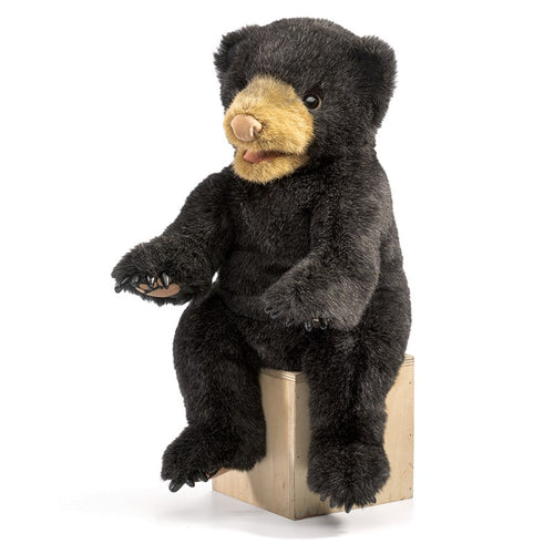 Folkmanis Play Pretend Animal Puppet, Black Bear Cub