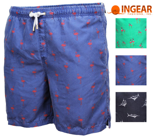 Ingear Mens Luxury Printed Drawstring Swim Short