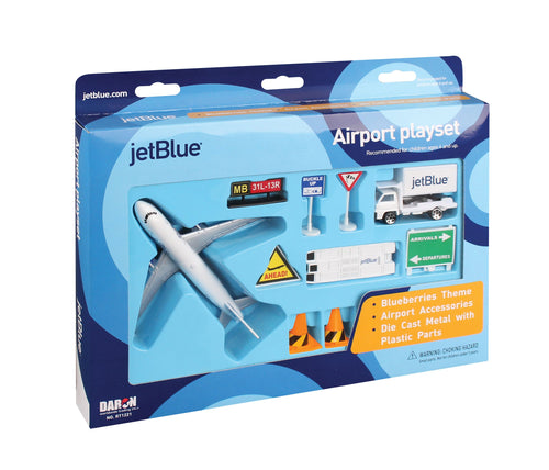 Daron JetBlue Airlines Die Cast Metal Airport Play Set