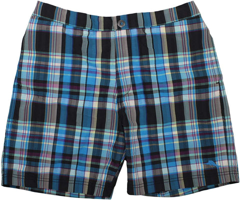 Tommy Bahama Mens Coasta Plaid Swim Trunks (Jet Black,S)