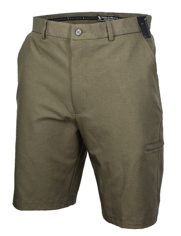 Pebble Beach Mens Performance Flat Front Golf Shorts