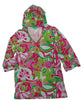 Macbeth Collection Beach Candie Womens Hooded Pullover Swim Cover-Up Tunic Top