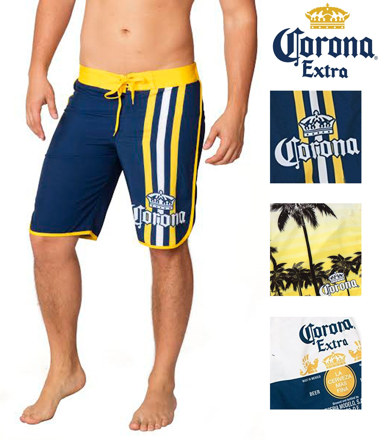 2d8a8afae7 Ingear Mens Corona Extra Beer Officially Licensed Summer Swim Board Shorts