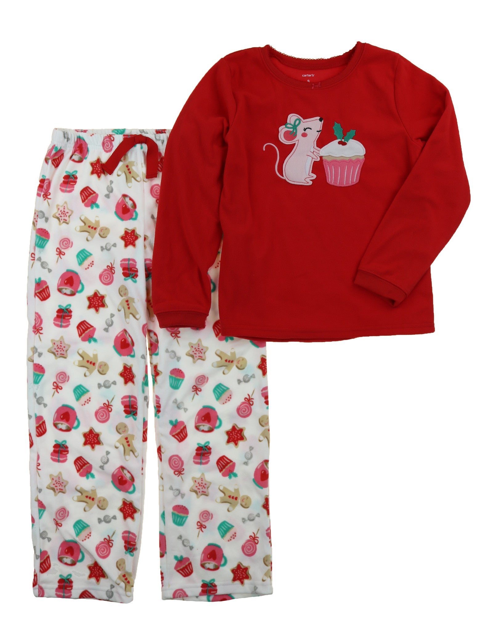 04580a903 Carters Girl s 2 Piece Cozy Flannel Pajamas Shirt and Pant Sleepwear ...