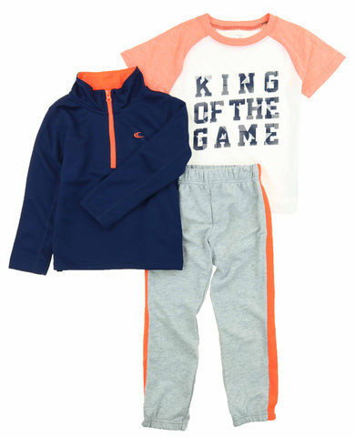 Carters Boys 3 Piece Matching Casual Outfit Set-2 Tops, 1 Elastic Waistband Pant