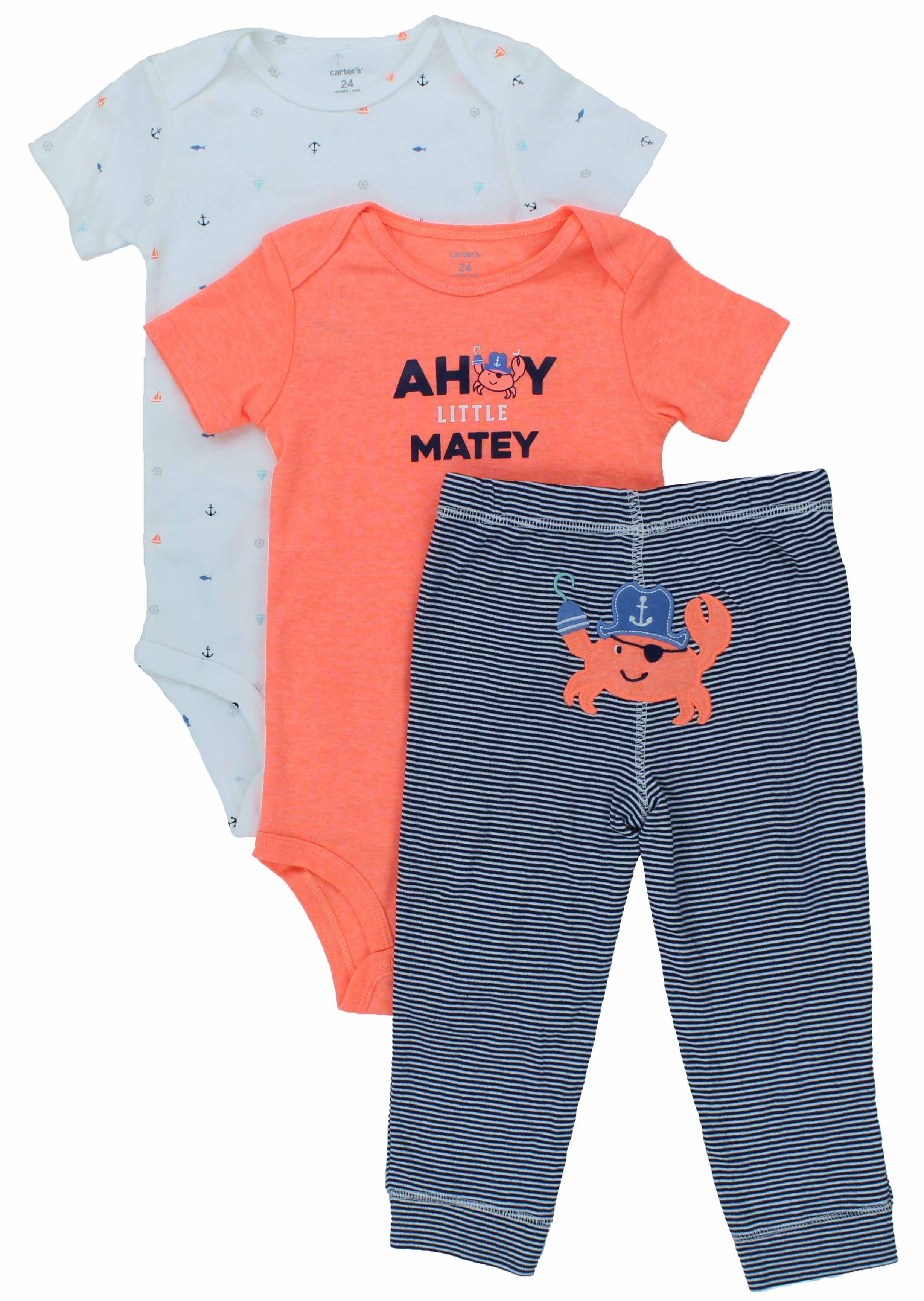 Carter s Baby Boy s 3 Piece Matching Outfit Set 2 sies 1 Pant