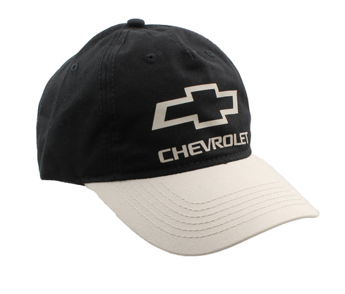 H3 Headwear Chevrolet Bowtie Logo Unstructured Adjustable Baseball Cap (Black)