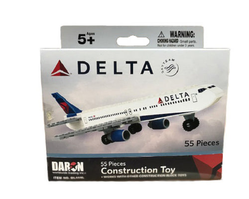 Daron Delta Airlines Block Construction Toy (55-Piece)