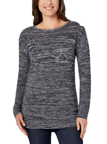Ellen Tracy Womens Marled Knit Sweater Top
