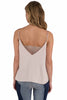 Free People Womens Deep V Bandeau Lace Cami