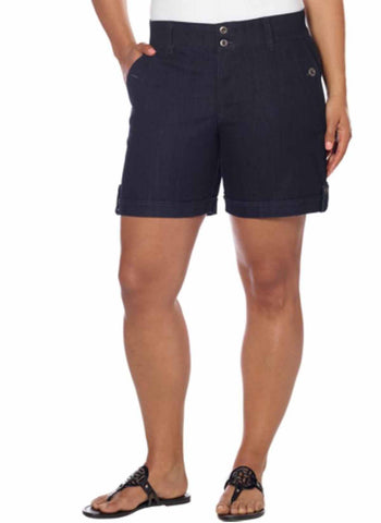 GLORIA VANDERBILT CELINA SHORT, Stretch with a Comfortable Waist, Regular & Plus