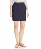Gloria Vanderbilt Women's Pennie Knit Waistband Lightweight Poplin Pull On Skort