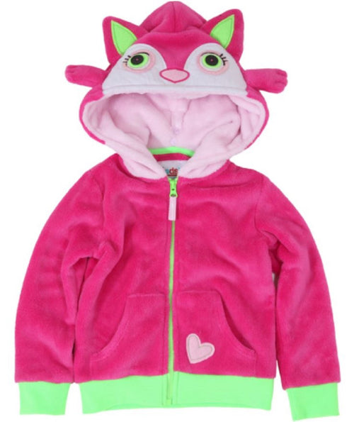 Hoodsbee Girls Soft Plush Full Zip Jacket-The Hoodie That Becomes a Friend