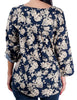 Isabella's Closet Womens 3/4 Sleeve Print Top