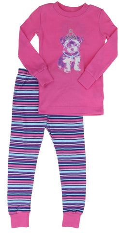 Kirkland Signature Girls 2-Piece Organic Cotton Pajama Set