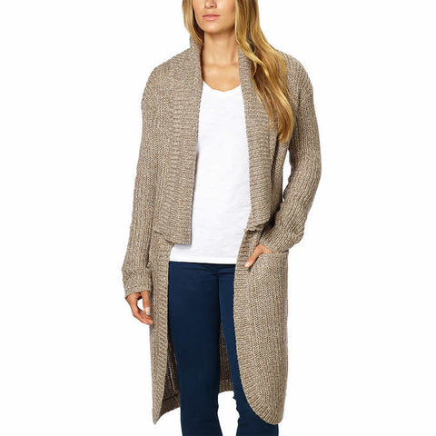 La Classe Couture Women's Long Length Knit Cardigan (Shitake Twist, X-Small)