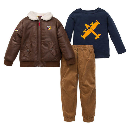 Little Me Boy's 3 Piece Outfit Set-Jacket or Vest, Shirt, Pants