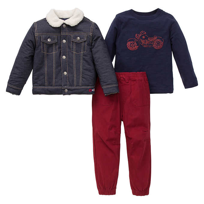 Pants /& Shirt Set Little Me Boys/' Toddler Jacket Tan, 4T