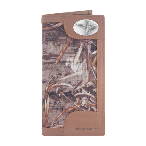 ZEP-PRO Mens Realtree Max-5 Nylon/Leather Roper Concho Wallet