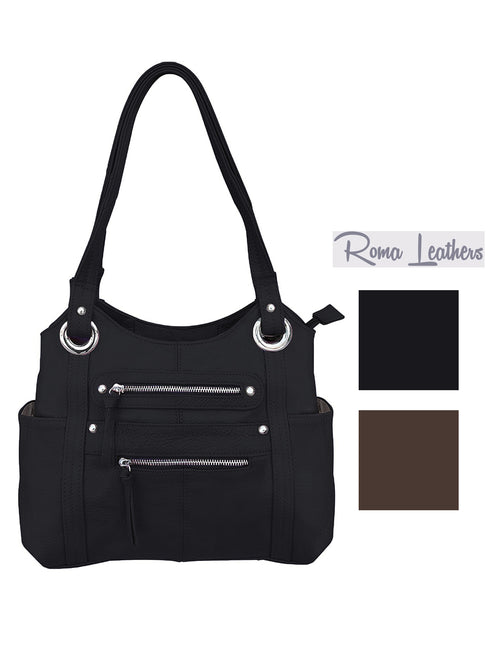 Roma Leathers Womens Concealed Carry Gun Shoulder Bag