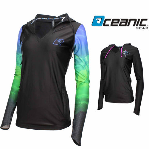 Oceanic Womens Long Sleeve Hooded Cover Up