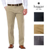 Haggar Clothing Men's Sustainable Stretch Chino Flat Front Straight Fit Pants