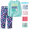 Carters Girl's 2 Piece Cozy Flannel Pajamas Shirt and Pant Sleepwear