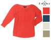Fever Womens 3/4 Sleeve Sweater Top