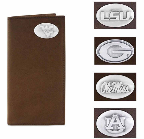 ZEP-PRO Mens Collegiate Crazy Horse Leather Wallets