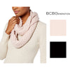 BCBGeneration Tucked Stitch Infinity Scarf (Rose Smoke, One Size)