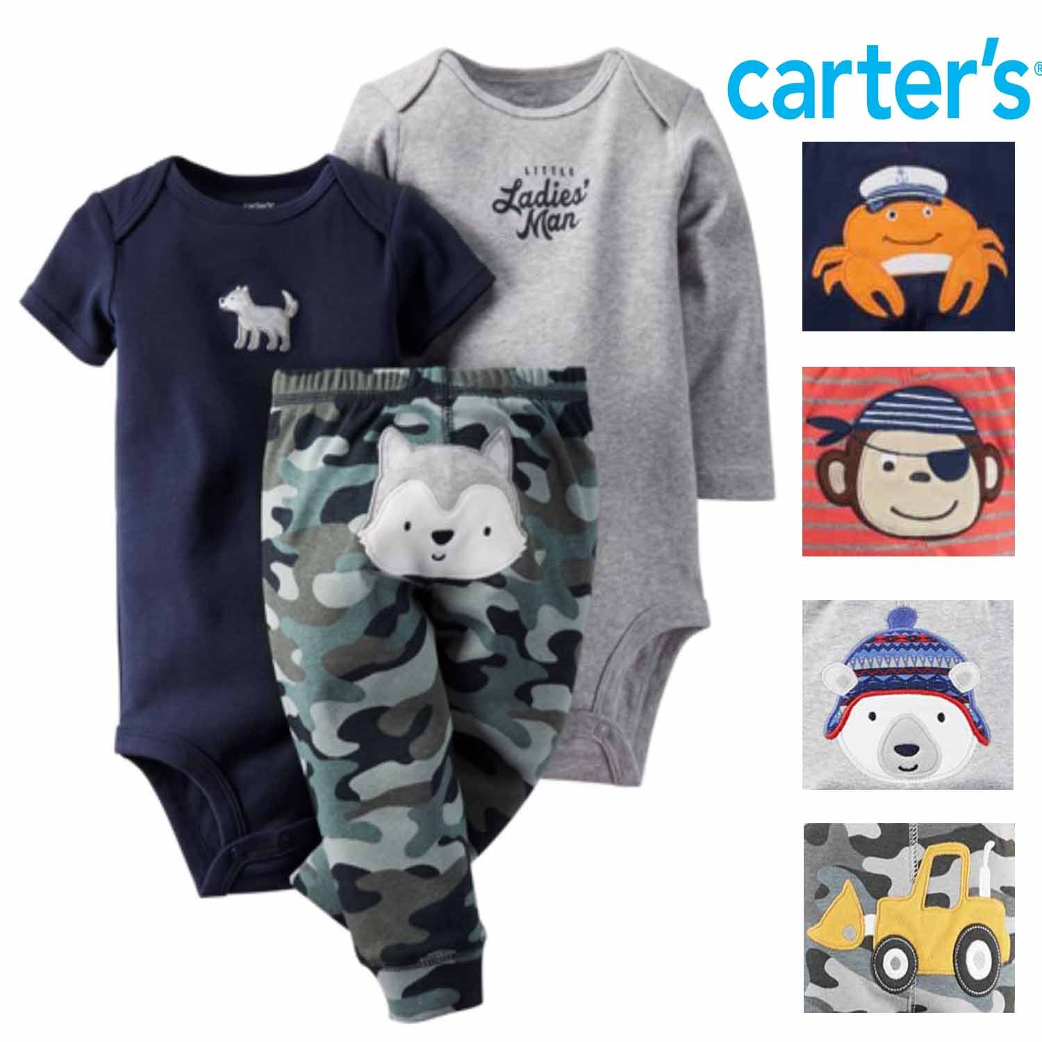 9M Carters Baby Boys Graphic Jersey Tee - Spaceships Baby