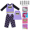 Komar Kids Girls Character 2-Piece Pajama Set