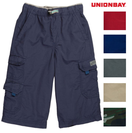 Unionbay Boy's Lightweight Pull On Cargo Shorts