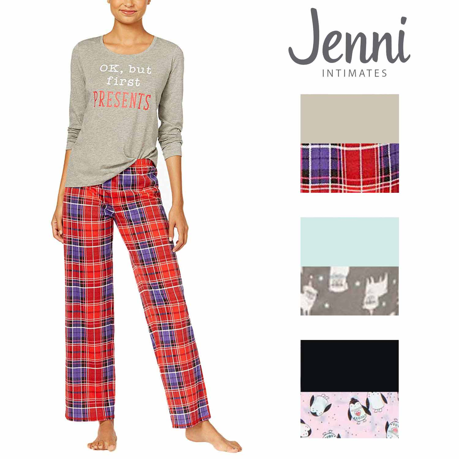 e57026f3e1b1 Jenni by Jennifer Moore Knit Top & Printed Pants Pajama Set – Shop Munki