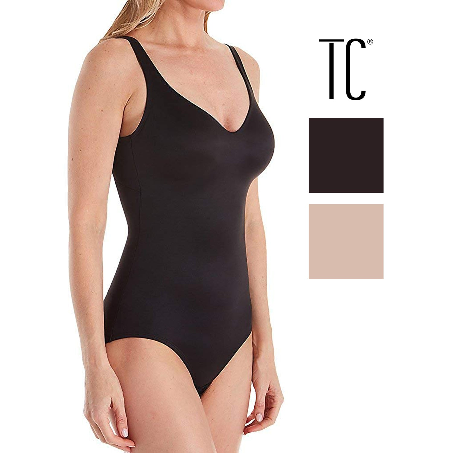 88c4eee1979 TC Fine Intimates Womens Wonderful U! Firm Control Body Briefer Bodysu –  Shop Munki