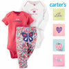 Carters Baby Girl's 3 Piece Matching Outfit Set-2 Onsies, 1 Pant