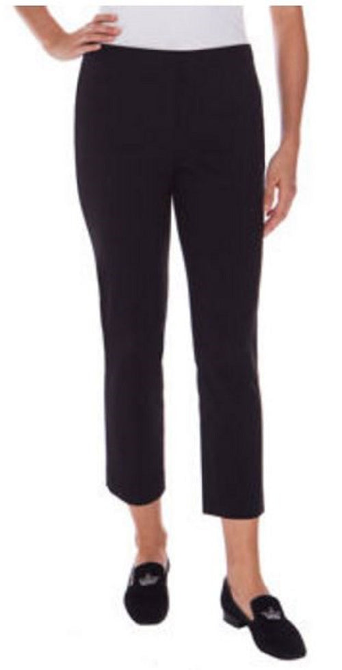 Mario Serrani Womens Woven Comfort Stretch Slim Fit Pants with Tummy Control