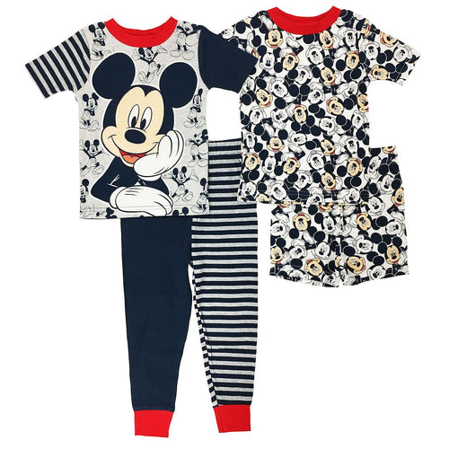 Boys 4 Piece Mix and Match Character Pajama Set