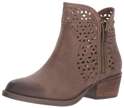 Not Rated Womens Etta Chop Out Ankle Bootie