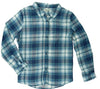 OLIVE & OAK LONG SLEEVE PLAID BUTTON FRONT SHIRT