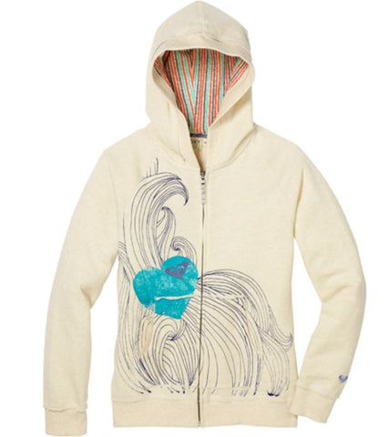 Roxy Girl's Moondust Full Zip Hoodie Jacket