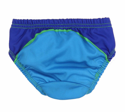 Swim School Boys Comfortable Fit Reusable Swim Diaper (Blue Wave, Small (13-18lbs))