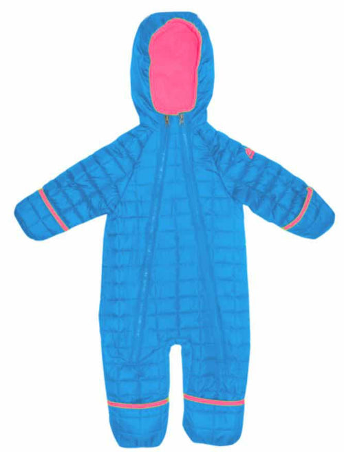 SNOZU GIRLS INFANT/TODDLER FLEECE LINED QUILTED SNOWSUIT