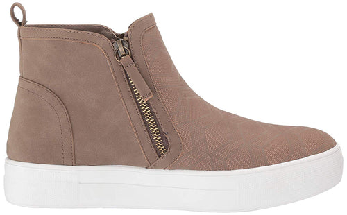 Not Rated Womens MIA Tina Zip-Up Platform Sneaker Ankle Bootie