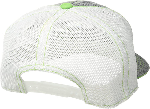 Ariat Mens Adjustable Snapback Mesh Cap Hat (Grey Heather/Green, One Size)