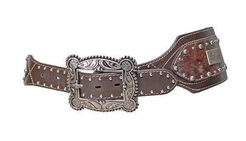 Roper Womens Distressed Leather Western Hip Belt Hazel Brown