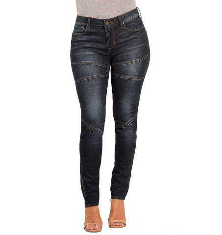 Versace 19v69 Womens Giuliana Skinny Stretch Panel Jean
