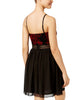BCX Juniors' Velvet Chiffon Sweetheart Dress
