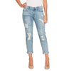 Jessica Simpson Juniors' Mika Best Friend Embroidered Girlfriend Jeans
